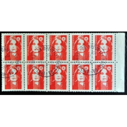 carnet 10 timbres Marianne...